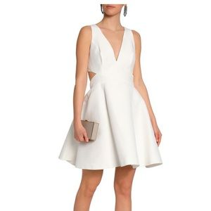 White Halston Heritage cut out skater dress size 2